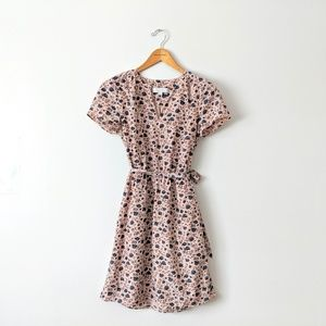 Loft Blush Floral Dress Size Small